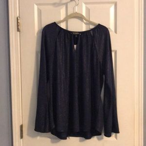 NWT Limited Longsleeve Purple Shimmer Top